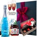 ワイン チョコ フラワー プレゼント/プラチナムフレグランス No.7 × トッピングフラワー 結婚 お酒