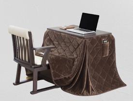 パーソナルこたつ&布団&回転椅子セットあたたかい在宅ワークテレワーク☆リモートワークにも安心してお使いいただけます冬支度肘付きタイプ