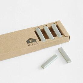 KURA Kobi(コビ) / 箸置き(BOX入り/5個セット)クールグレー(マット)サイズ:0.9×4.7×H0.5cm 重さ:1個約6g 素材:磁器生産地:岐阜 made in Japan