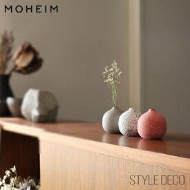 MOHEIM モヘイム / COLOR DROPS カラードロップス 丸型 一輪挿しBOXサイズ:W88×D88×H88mmサイズ:直径70×H70mm 素材:せっ器フラワーベース 花器 花瓶 花びん ミニベース