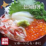 海鮮函館三色丼セット(いかいくらかに)