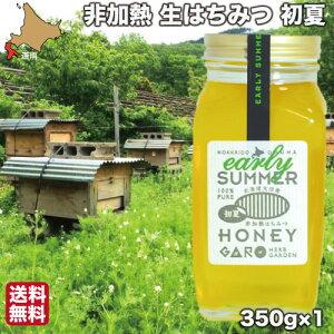 はちみつ 非加熱 国産 生蜂蜜 初夏 350g 純粋 ハチミツ 北海道 大沼ガロハーブガーデン 送料無料