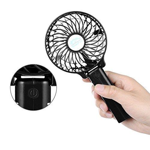 ◆風の角度も自由自在♪◆★折りたたみ ハンディー扇風機★★卓上★取り付け可能★USB充電器/クリップ付き