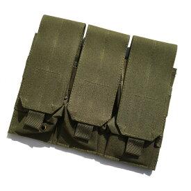 Broptical 3連ポーチ OD M14/M16/G36/SCAR-L マガジン トリプルライフルマガジンポーチ サバゲー サバイバル BDU オリーブドライブ