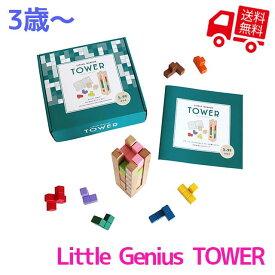 Little Genius TOWER -タワー-【 エド・インター 知育玩具 知育グッズ 5歳児 おもちゃ 積み木 つみき ブロック 立体 テトリス 出産祝い 男の子 女の子 プレゼント ギフト 誕生日 子供の日 巣ごもり 巣ごもりグッズ 】