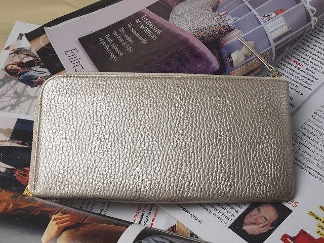 金運アップ・開運財布専門店 「財布屋」 日本の財布職人が作る開運の財布 シンプル開運財布シャンパンゴールドレジさっと