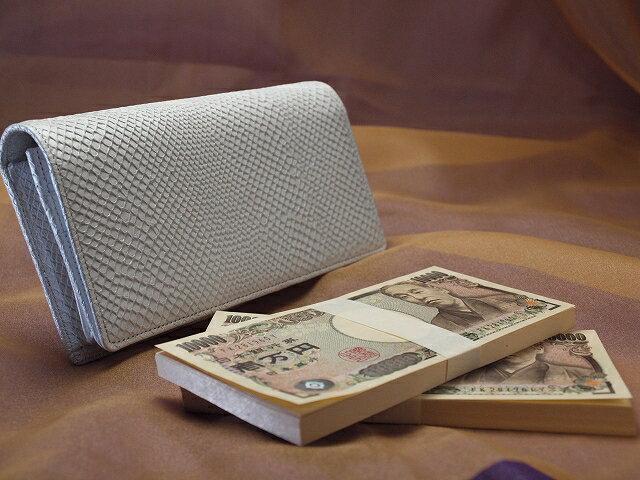 開運祈願!財布職人が作る極みの財布 白蛇 200万円入る財布
