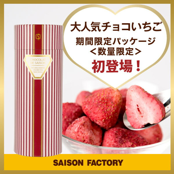 セゾンファクトリー 期間限定パッケージ・100gチョコいちご《プレゼント・ギフト・チョコレート・いちご・贈り物・スイーツ・プチギフト》