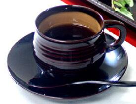 千筋コーヒー椀皿(スプーン付)溜内または銀朱内 クリーム 1客
