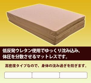 高密度低反発ウレタンマットレス三つ折タイプシングルサイズ10P13oct13_b【RCP】【ウレタンマットレス軽量収納】