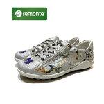 レモンテ [REMONTE] レディース 靴  カジュアルシューズ  品番R1402 お買い得品色マルチフラワー / レースアップシューズ / 外側ファスナー付 / リーカ姉妹ブランド