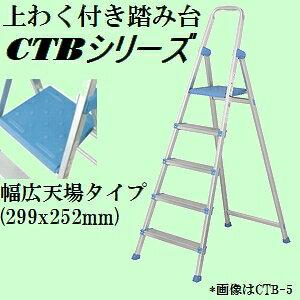 【収納時幅約11cmの薄型、サイズも豊富】ピカ CTB-5C 上わく付き軽量アルミ踏み台 コメット 踏台高さ112cm【後払い不可】