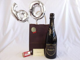 還暦シルバーバルーン60贈り物セット ロジャーグラート カヴァ グラン キュヴェ 750mlスパークリングスペインワイン(白・辛口) メッセージカード付