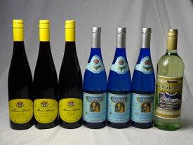ドイツワイン7本セット ゲートロイトハウス グリューワイン(白ワイン)1000ml×1本 白ワイン750ml×3本 赤ワイン750ml×3本 バレンタイン