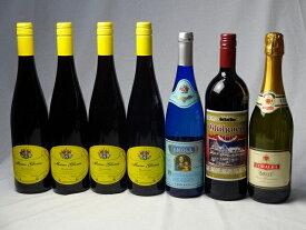 冬のワイン7本セット ドイツ赤ワイン750ml×4本 ドイツ甘口白ワイン750ml×1本 スパークリング白ワイン750ml×1本 ゲートロイトハウス グリューホットワイン(赤ワイン1000ml×1本) バレンタイン