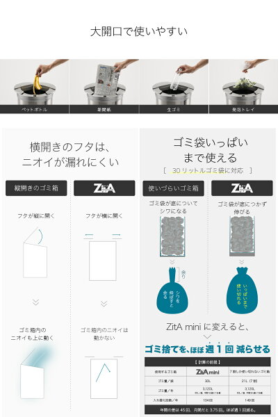 ゴミ箱自動センサー自動ゴミ箱zitaジータ