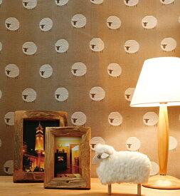 羊のドット柄のカーテン【ブラウン】Sheep(シープ)- キュート・落ち着いた