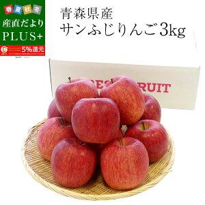 青森県産 サンふじりんご 特秀品 Lサイズ 3キロ (9玉から12玉)送料無料 ふじりんご 林檎  冬ギフト