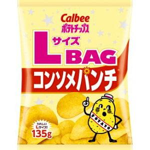 カルビー ポテトチップス コンソメパンチ Lサイズバッグ 1箱135g12袋入