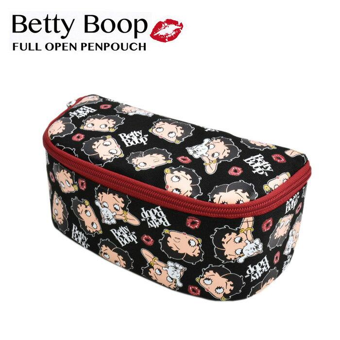 【メール便可】ベティちゃん ベティ・ブープ Betty Boop フルオープン ペンポーチ レディース メンズ キッズ ジュニア 学生 学校 通学 学童 クラブ 人気 USJ ユニバーサル BET-002 あす楽