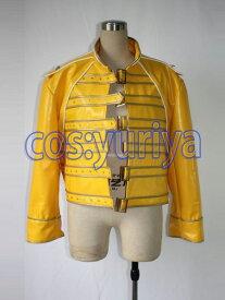 QUEEN(クイーン)フレディ・マーキュリー 後期 黄色ジャケット★コスプレ衣装