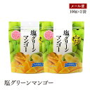 【メール便】塩グリーンマンゴー100g 2袋セット スタンド袋(チャック付)ほのかな塩味と甘み ドライフルーツ もっち…