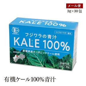 無農薬 国産有機ケール100%青汁 粉末タイプ 3g×30包入り 愛媛県産オーガニックケール使用 有機JAS認証 添加物不使用 マイクロパウダー製法