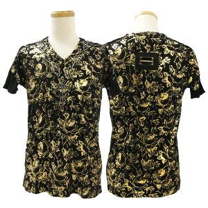 新作【THESAINTSSINPHONY/セインツシンフォニー】LORDHAVEMURCITシャツ(長袖・ブラック・BLK)メンズ【送料無料】カープリントに人気のネックレスプリントをプラス!ブラックにゴールドプリントが映える1枚です!【インポート】【正規品】