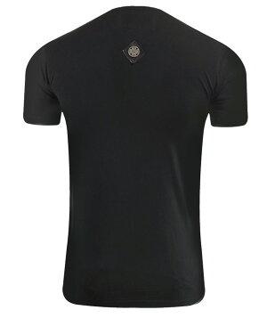 新作【THESAINTSSINPHONY/セインツシンフォニー】SERVEEMUP・Tシャツ(半袖・CREWネック・ブラック・BLK)メンズ【送料無料】ウルフプリントが珍しくてかっこいい!モノトーンなデザインに赤い瞳のプリントがはえる1枚です!【インポート】【セレカジ】【正規品】