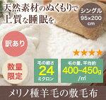 メリノ羊毛敷毛布シングル【訳あり】(ウール毛布)縫い付け洗濯表示なし