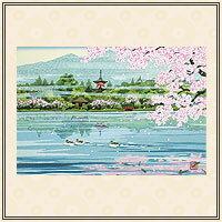 井堂雅夫『京の花の歳時記』【絵画・京都・12か月】【通販・販売】