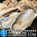 牡蠣 三陸産 生牡蠣 殻付き L 10個 生食用 真牡蠣 陸前高田 気仙沼産生がき 漁師直送【送料無料】
