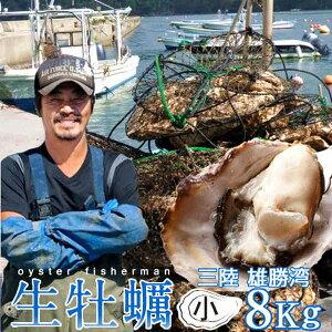 生ガキ 生牡蠣 小 8kg 56-96個入 殻付き 生食用 生カキ 宮城県産 お取り寄せ バーベキュー【送料無料】
