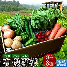 日本の有機野菜セット 旬のおまかせ8種類 全国ご当地生産者のこだわり有機栽培【送料無料】