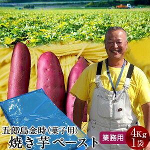 さつまいも 焼き芋 五郎島金時 4kg 業務用 ペースト(1mm)石川県産 加賀野菜 さつま芋 農家屋直送【送料無料】