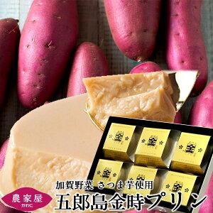 さつまいも プリン 五郎島金時プリン 6個入 石川県産 加賀野菜 さつま芋 スイーツ 焼きいも ぷりん【送料無料】