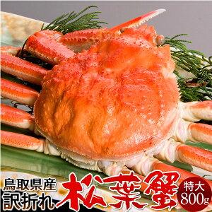 【新物スタート】かに 松葉ガニ 訳あり[B特大]800g 松葉蟹 ボイル ゆでがに 鳥取県産 足折れマツバガニ 日本海ズワイガニ【送料無料】