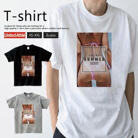 Tシャツ メンズ レディース 半袖 ペア カップル 『セクシー sexy フォト 夏 海 ハワイ 水着 外人 ビーチ enjoy summer おしゃれ』 大人かわいい tシャツ 可愛いtシャツ
