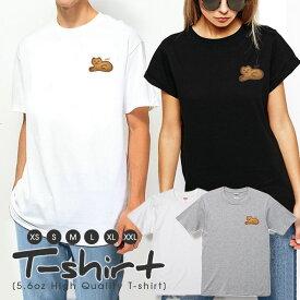 Tシャツ レディース 半袖 カジュアル ペア カップル ロゴTシャツ 大人 トップス プリント カットソー ブランド ゆったり かわいい おしゃれ 女子 お菓子 クッキー ビスケット スイーツ 食べ物 大人 ファンシー 猫 ねこ にゃんこ キャット