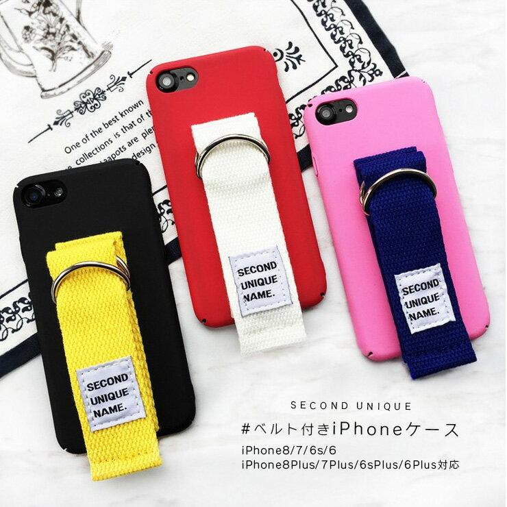 SECOND UNIQUE iPhone8 iPhone8Plus ケース 韓国 ベルト付き iPhone7 ケース iPhone7 plus ケース iPhone6s plus スマホケース ベルト アイフォン7 ケース iPhone6plus iPhone6ケース ベルト付き 韓国 おしゃれ 可愛い 海外 個性的 かわいい インスタ 人気
