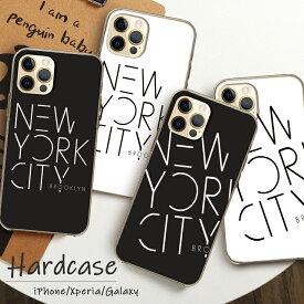 iPhoneSE(第2世代) ケース ハードケース iPhone11 Pro ProMax iPhoneXR XSMax XS X iPhone8/8Plus Xperia GalaxyS9 S9+ ニューヨーク/NYC/ブルックリン/newyorkcity/Brooklyn/英語/ロゴ/メンズ