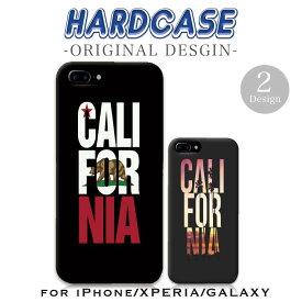 iPhone11 Pro ProMax iPhoneXR XSMax XS X iPhone8/8Plus ケース ハードケース XperiaXZs XperiaXZ Premium XperiaX/Z5/Z4/Z3 GalaxyS9 S9+ GalaxyS7edgeスマホ カバー カリフォルニア California LA 西海岸