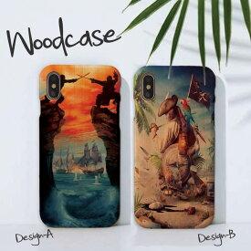 iPhoneXsMAX XR X Xs ケース iPhone8/7/6 ウッドケース iPhone8Plus/iPhone7Plus/6s/6sPlus wood ケース XperiaZ5 woodケース iPhoneSE 木製 ケース 海賊 パイレーツ カリブ海 カリブ 船長 航海 木目ケース