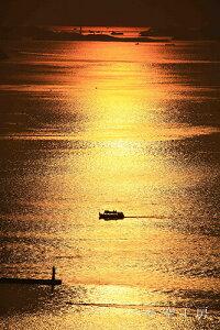 ポストカード 空 雲 星 月 飛行機 花 海 風景空の写真家 フォトグラファー 写真「屋島山上から望む」【空工房】【SIESTA】