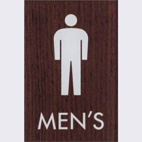 男 MEN'S 木目調 ウォルナット 60×40mm 標識 表示 ルームプレート トイレマーク ドア