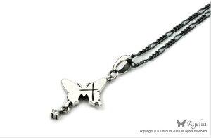 [Ageha]クロスと蝶のペンダント【送料無料】アゲハペンダント