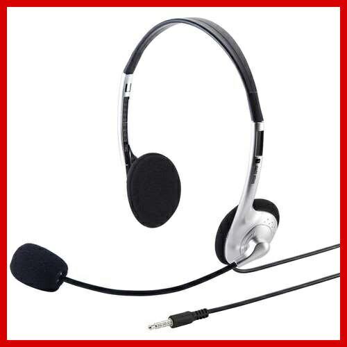 サンワサプライ タブレット用ヘッドセット ヘッドホン マイク MM-HS526TAB Skype(スカイプ)などのボイスチャット対応