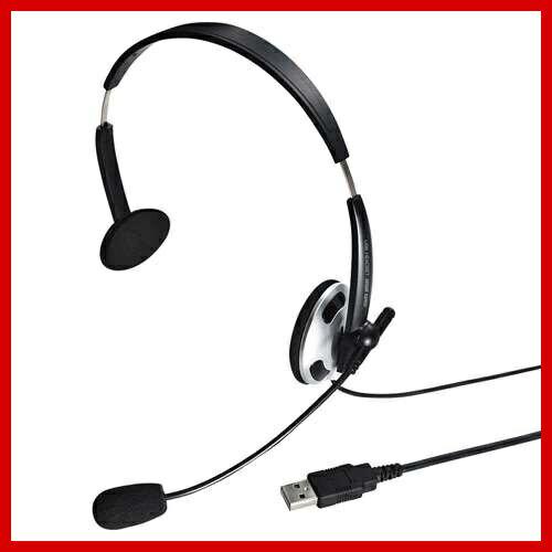 サンワサプライ USBヘッドセット ヘッドホン マイク MM-HSUSB13BKN Skype(スカイプ)などのボイスチャット対応