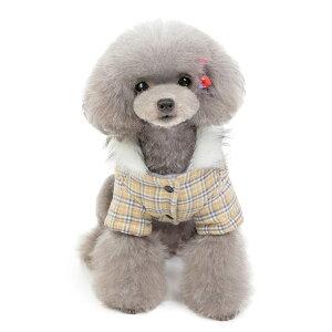 犬 服 秋冬 ペット 犬 ねこ 服 秋 冬 厚み付け 綿 ジャケット グリッド 綿 犬 冬服 セール 犬 服 可愛い ペット テディ プードル 犬服 洋服