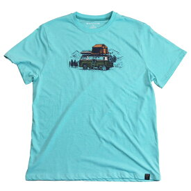 "UNITED BY BLUE - S/S Tee ""PACK UP & GO"" (Men's) [ ユナイテッドバイブルー メンズ クルーネック 半袖Tシャツ オーガニックコットン ]"